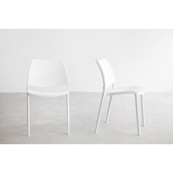 Bílá židle s bílými nohami Stua Gas