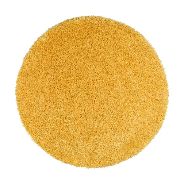 Žlutý koberec Universal Aqua Liso, ø100cm