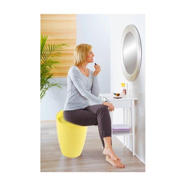 Žlutý koš na prádlo a taburetka v jednom Wenko Candy