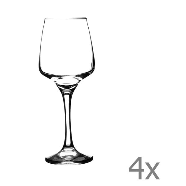 Sada 4 sklenic na bílé víno Nova, 290 ml