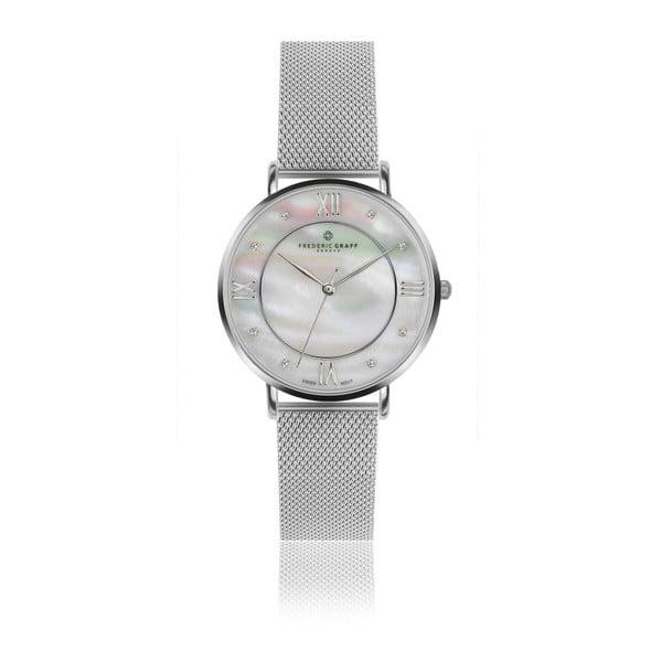 Ceas damă Frederic Graff Silver Liskamm Silver Mesh, curea metalică, argintiu