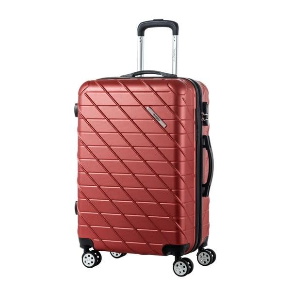Sada 3 hnědých cestovních kufrů na kolečkách Murano Americano