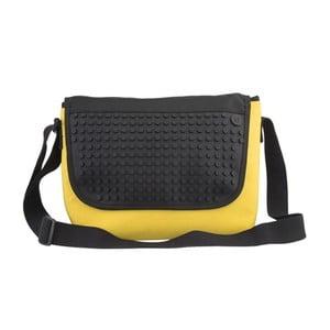 Pixelová taška messenger, yellow/black