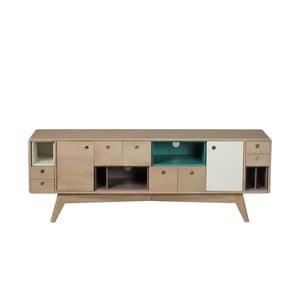 TV komoda z masivního mangového dřeva Woodjam Play Ligh, 155 cm