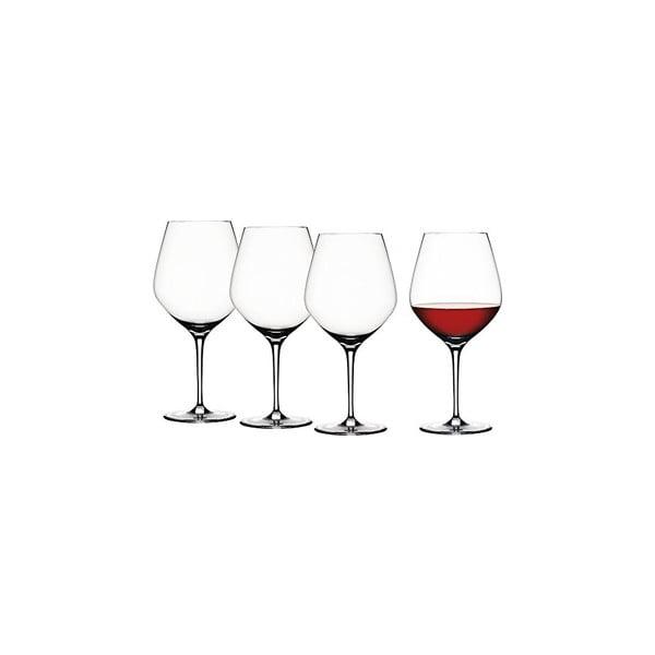 Set 4 sklenic na červené víno Burgundy
