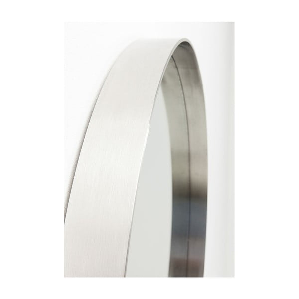 Kulaté nástěnné zrcadlo s rámem z nerezové oceli Kare Design Curve, Ø60cm