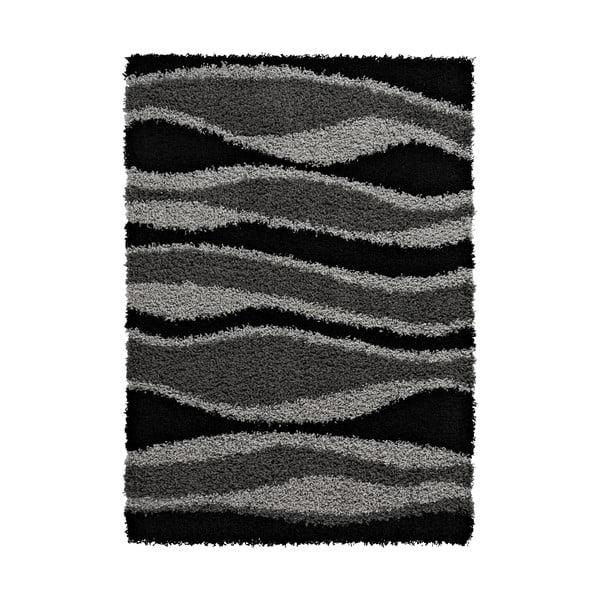 Koberec Vista Black Grey, 80x150 cm