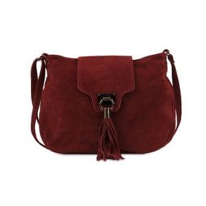 Vínová kabelka z nubukové kůže Infinitif Pexine