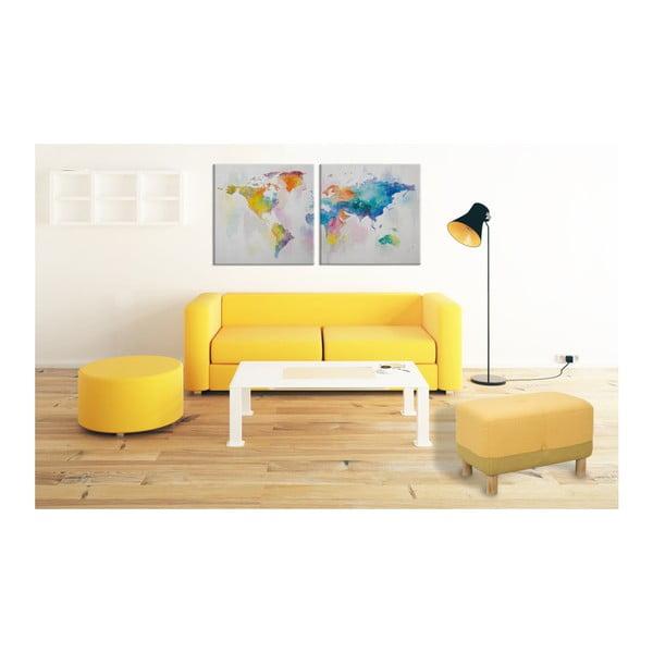 Vícedílný ručně malovaný obraz Mauro Ferretti Mad World,200x100cm