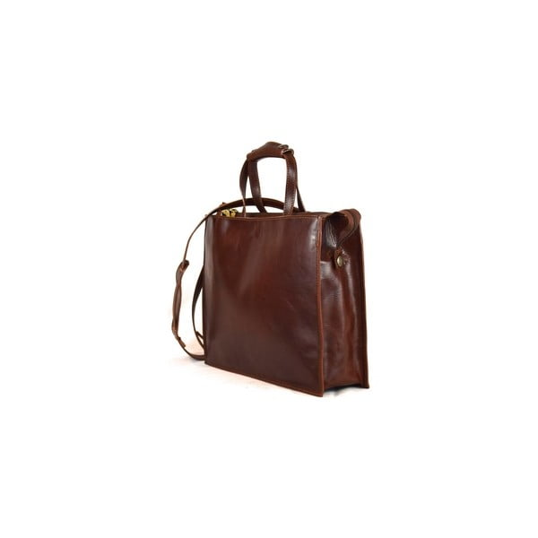 Kožená taška Santo Croce VL8209 Brown