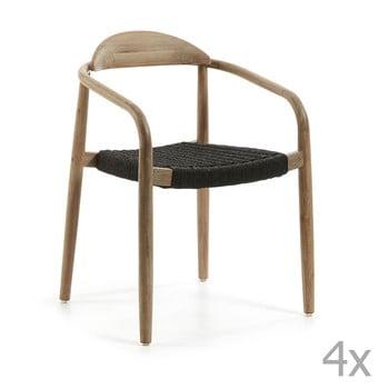 Set 4 scaune La Forma Glynis, negru