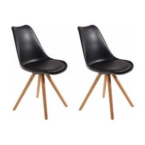 Sada 2 černých jídelních židlí Støraa Brenda