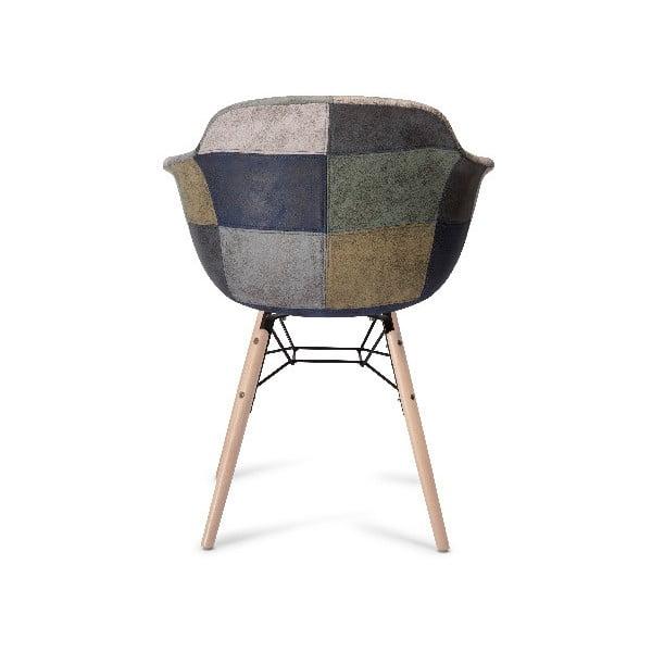 Scaun cu picioare din lemn de fag Furnhouse Flame Patch, gri