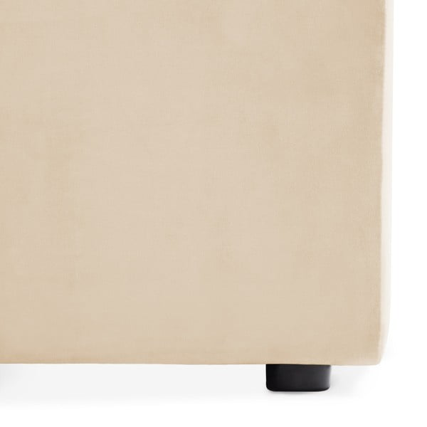 Pískově béžový levý rohový modul pohovky Vivonita Velvet Cube