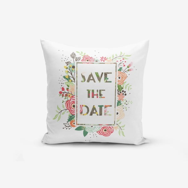 Poszewka na poduszkę z domieszką bawełny Minimalist Cushion Covers Saand, 45x45 cm