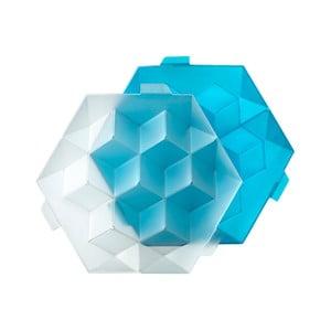 Modrá silikonová forma na led Lékué Giant Ice Cube