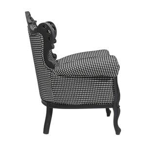 Fotoliu Kare Design Rubber Pepita, alb-negru