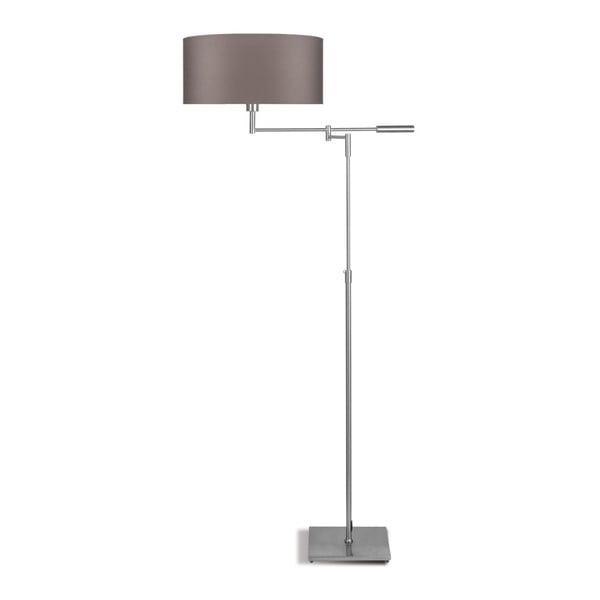 Šedá volně stojící lampa se šedým stínidlem Citylights Berlin