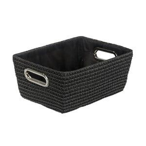 Černý košík Wenko Bamboo Chromo