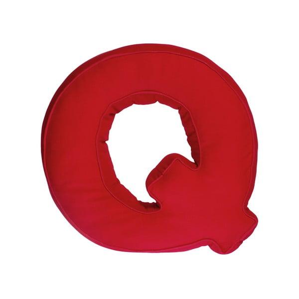 Látkový polštář Q, červený