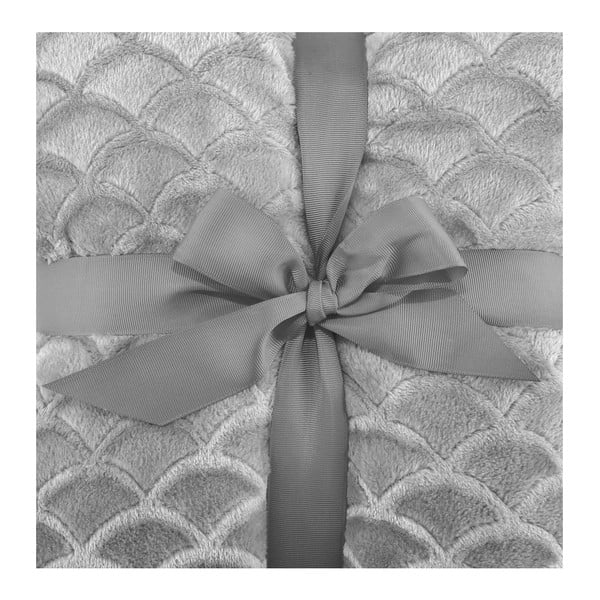Šedá deka z mikrovlákna DecoKing Sardi, 220 x 240 cm