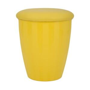 Žlutá stolička s úložným prostorem Mauro Ferretti Easy