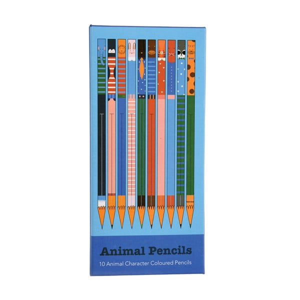 Sada 10 barevných pastelek Rex London