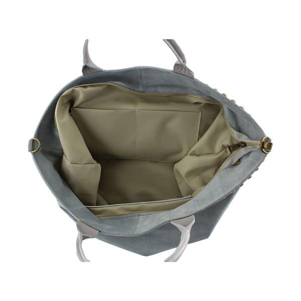 Kožená kabelka Skull, béžová