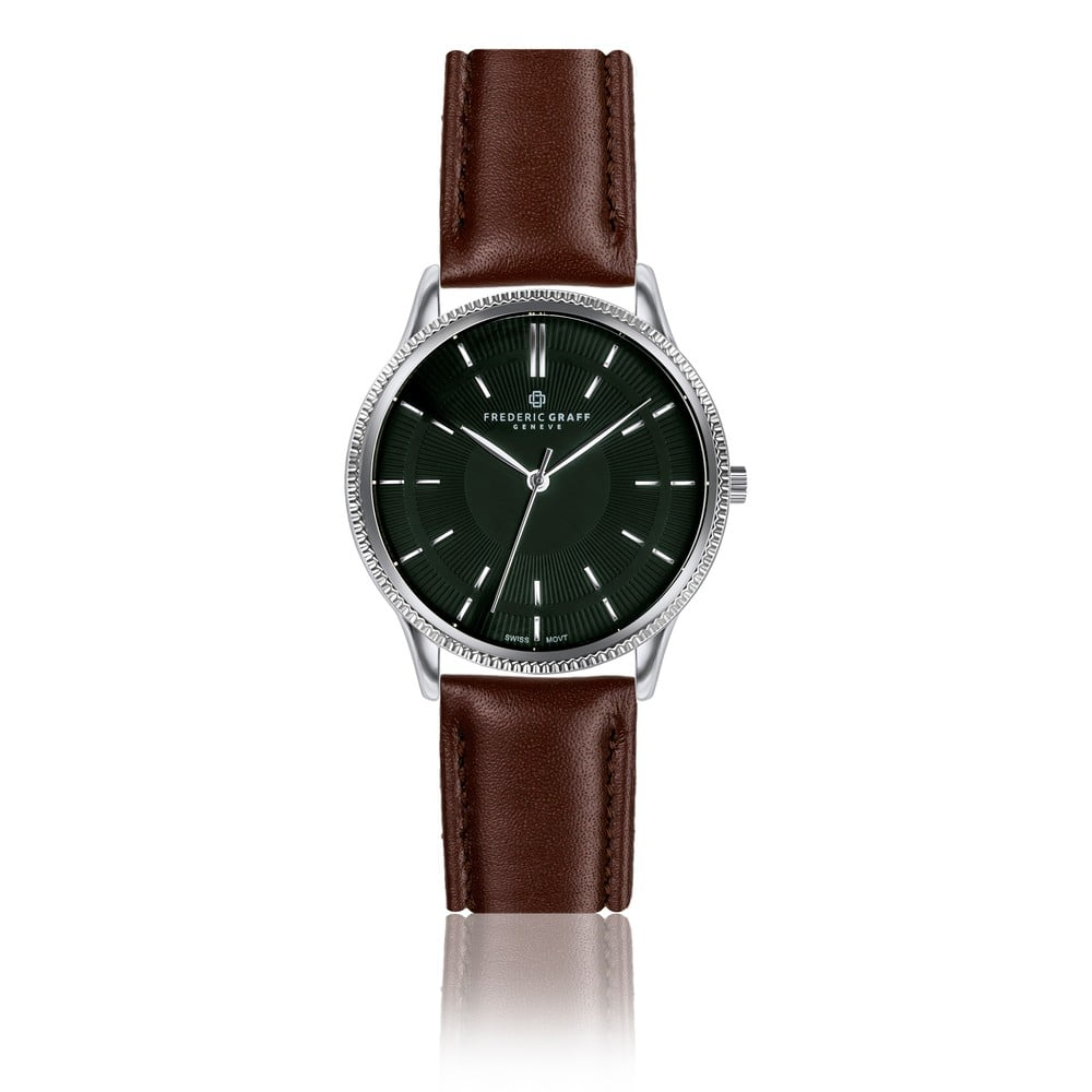 Unisex hodinky s hnědým páskem z pravé kůže Frederic Graff Makalu
