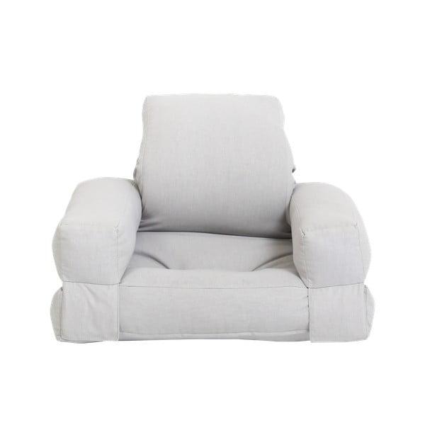 Jasnoszary dziecięcy fotel rozkładany Karup Design Mini Hippo Grey