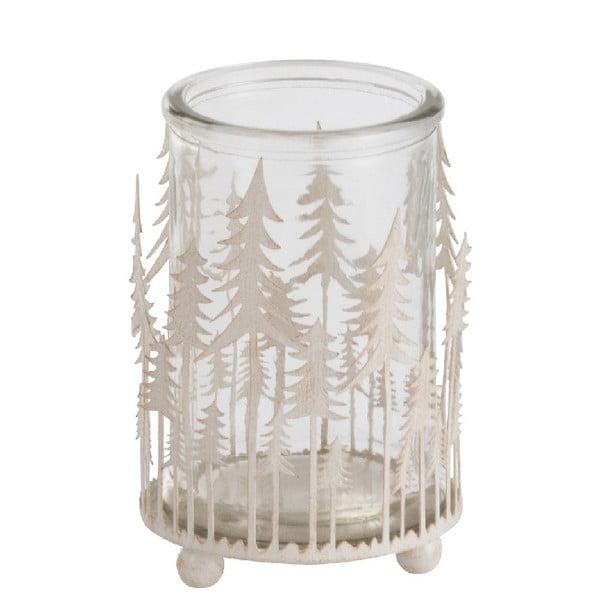 Bílý svícen J-Line Glitter Tree