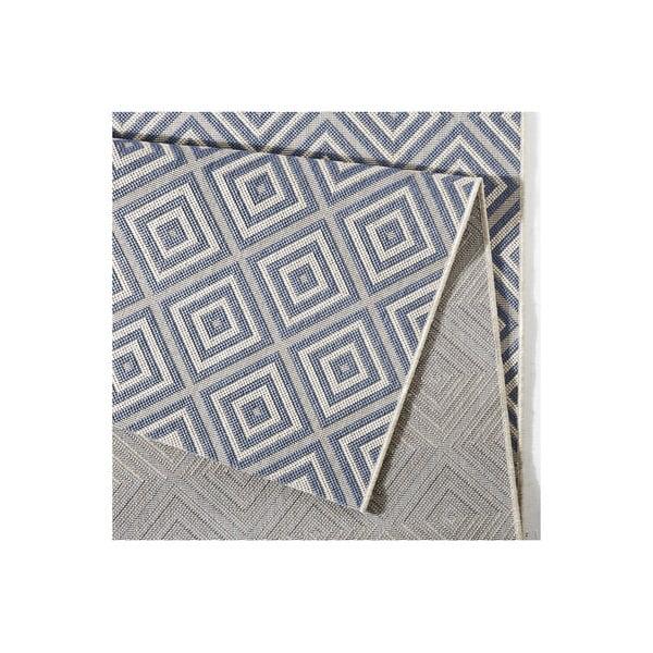 Modrý koberec vhodný i na ven Hanse Home Karo, 160x230cm