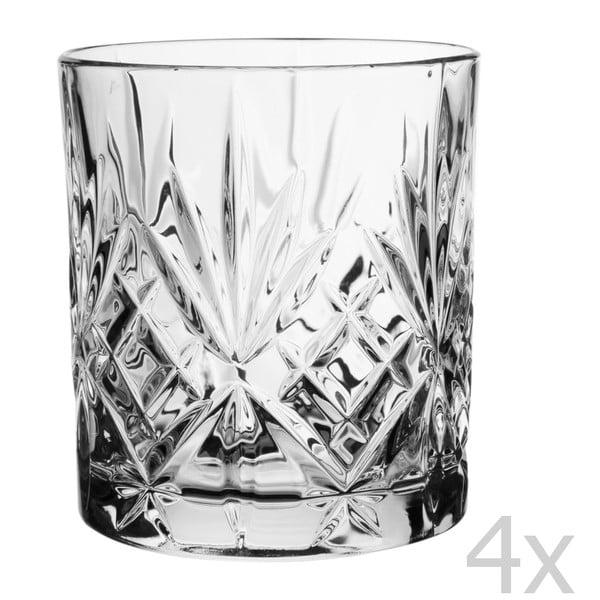 Set 4 sklenic na whisky Melodia, 310 cl