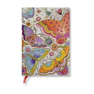 Zápisník s měkkou vazbou Paperblanks Flutterbyes, 13x18cm