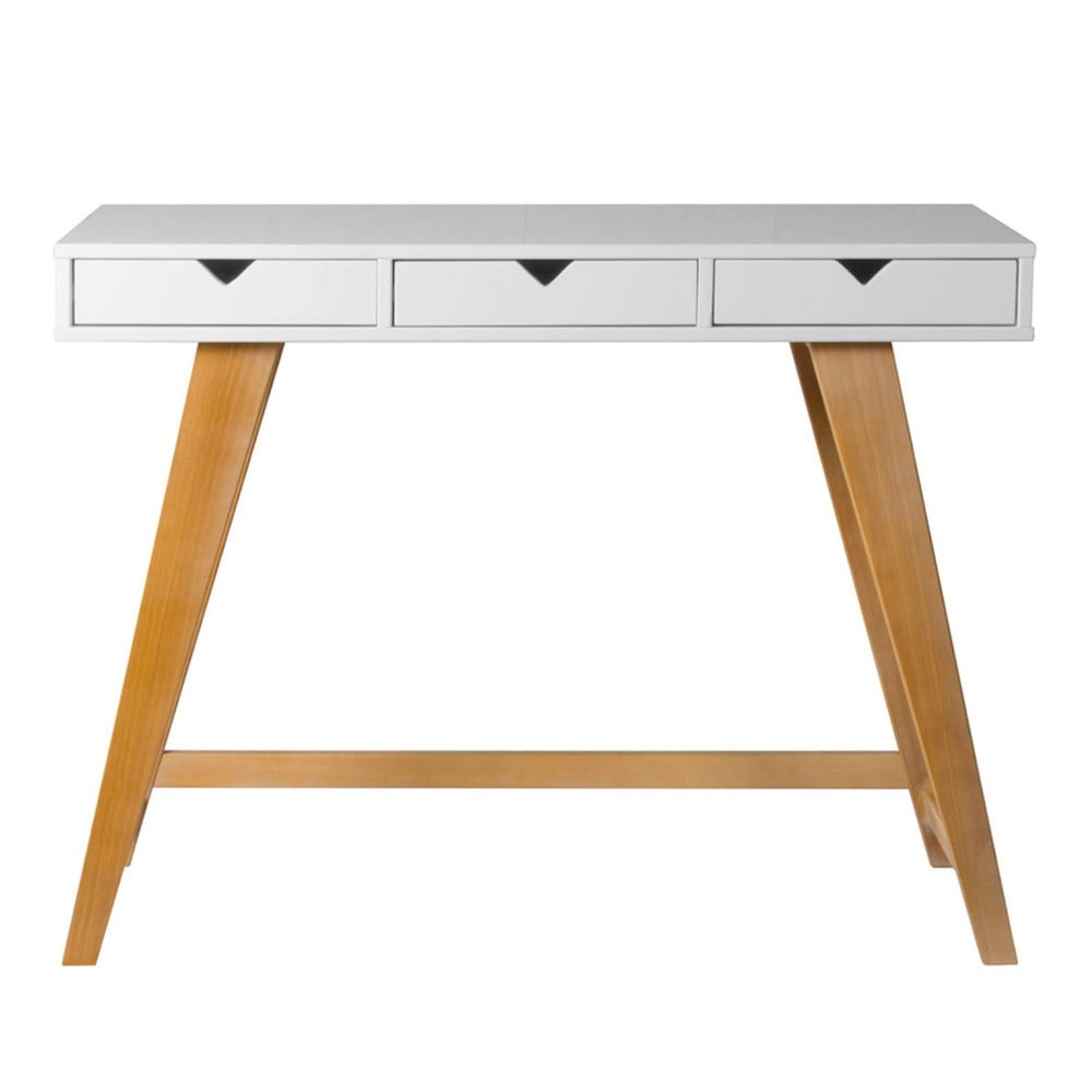 Bílý konzolový stolek Marckeric Gaudi