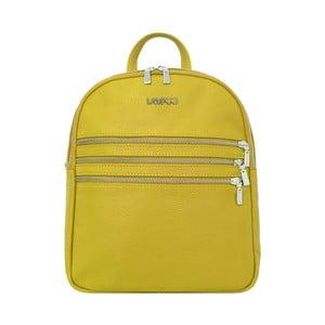 Žlutý kožený batoh Lampoo Gurda