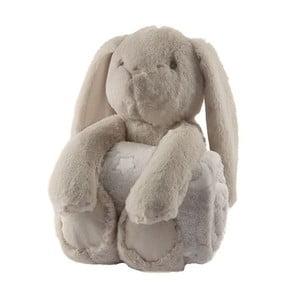 Plyšový králík s dětskou dečkou Biederlack