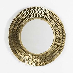 Nástěnné zrcadlo s detaily ve zlaté barvě Thai Natura, ⌀65cm