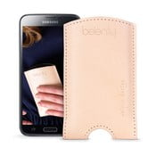 Kožený obal na Samsung Galaxy S5 Cream