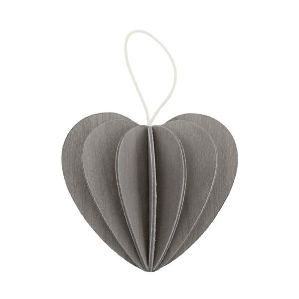 Skládací pohlednice Heart Grey, 4.5 cm