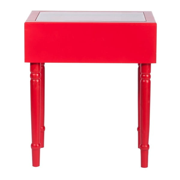 Odkládací stolek Diva Red, 45x32x52 cm