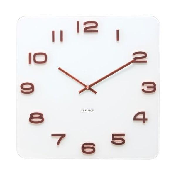 Hranaté hodiny Present Time Vintage Copper Numbers