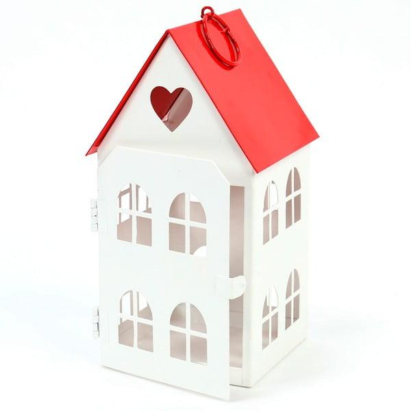 Sfeșnic metalic Unimasa House, înălțime 19,5cm, alb