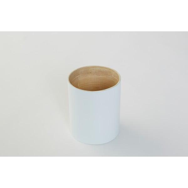 Bambusová dóza na kuchyňské nástroje Bamboo White, 10 cm