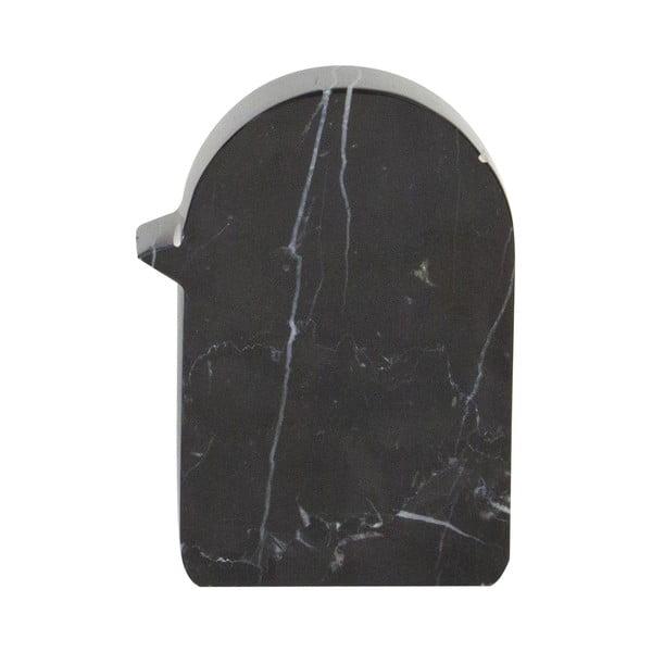 Mramorová dekorace Birdy 7x10 cm, černá