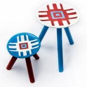 Sada 2 ručně malovaných stoliček Lunca
