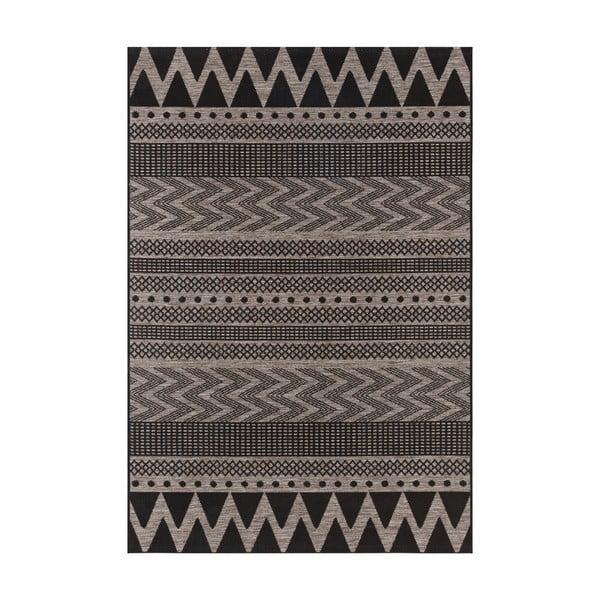 Černo-béžový venkovní koberec Bougari Sidon, 140 x 200 cm
