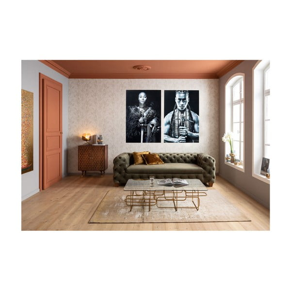 Tablou Kare Design Lady Knight, 150 x 100 cm, alb - negru