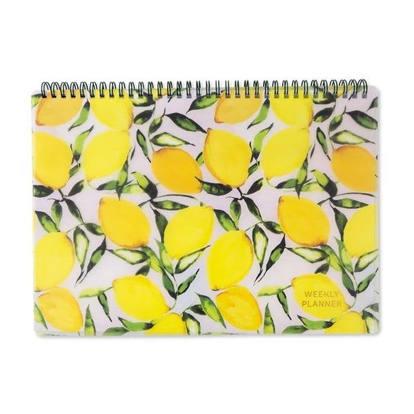 Lemons sárga heti tervező, 30x21cm - GO Stationery