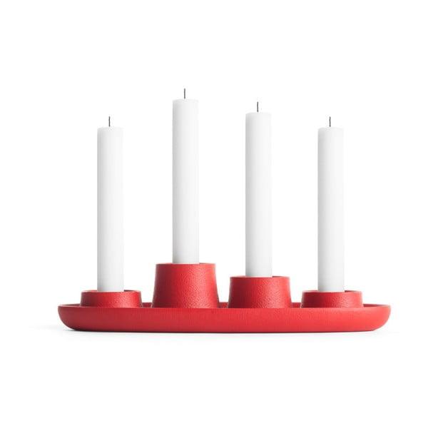 Sfeșnic EMKO Aye Aye Four Candle, roșu